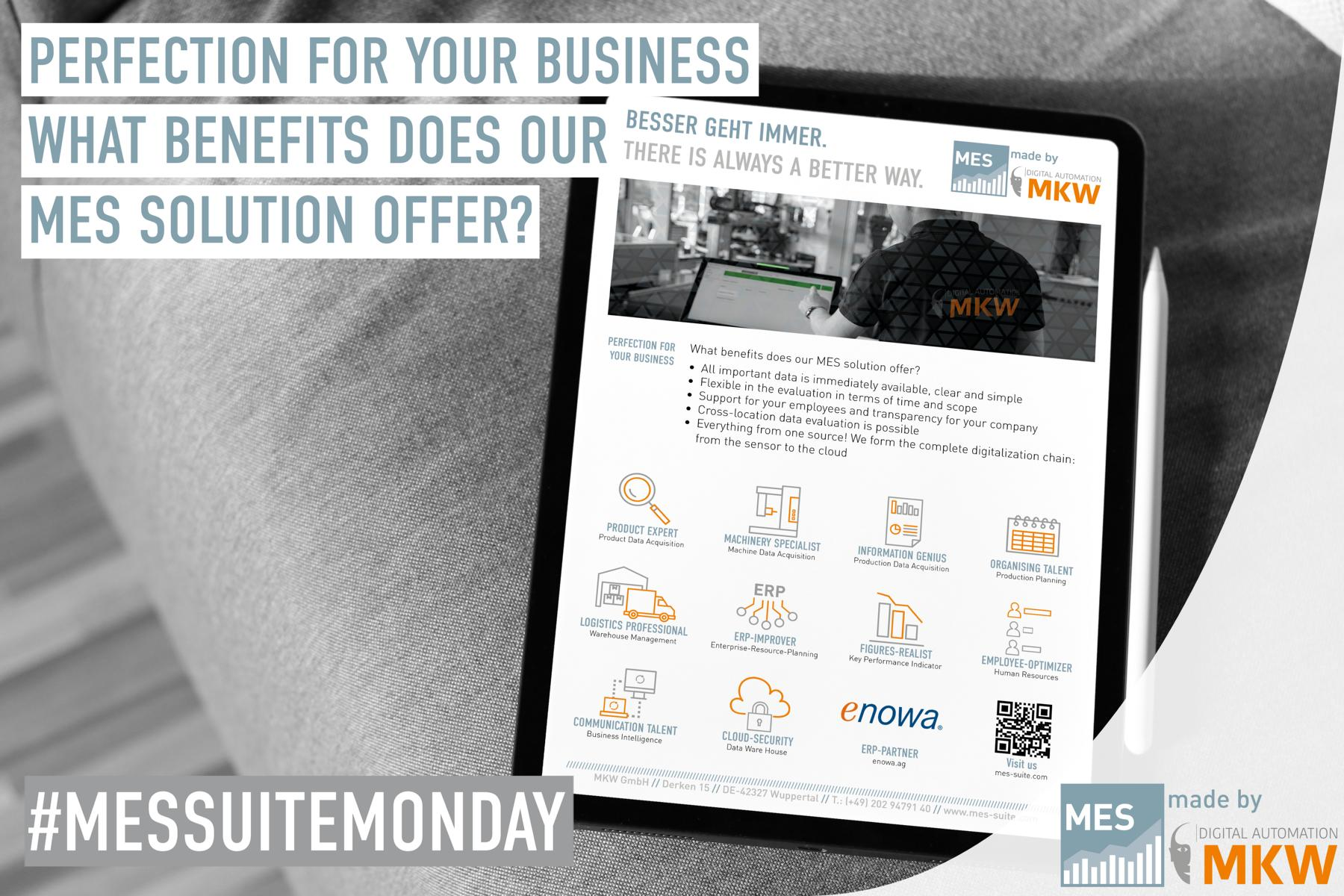 What benefits does our MES solution offer?